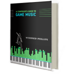 From the article by Winifred Phillips (composer of video game music) - depiction of the book cover of A COMPOSER'S GUIDE TO GAME MUSIC.