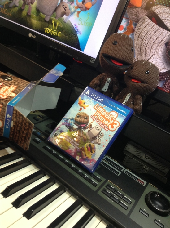 It was a thrill to compose music for LittleBigPlanet 3! My two new sackboys will live in my music studio and provide me with daily inspiration.  :-D