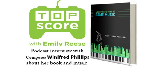 Illustration for Emily Reese's Top Score podcast - photo from video game composer Winifred Phillips' article