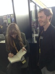 Signing a book for Brett Shipes