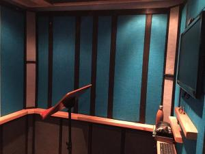 Michael Csurics' isolation booth for vocal recording