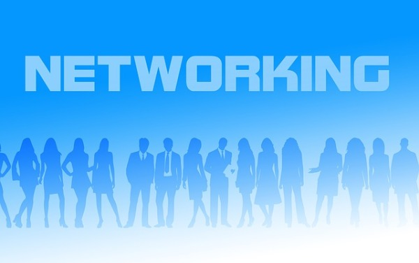 """Networking"" illustration, from video game composer Winifred Phillips' article on breaking into the game industry."