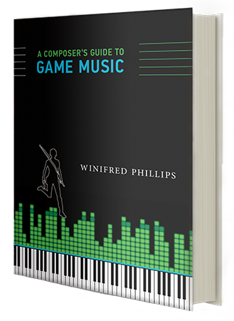 The cover of the book A Composer's Guide to Game Music, as discussed in this article written by popular game composer Winifred Phillips -- the article included excerpts from her recent Reddit Ask-Me-Anything that reached the Reddit front page, garnered Reddit's gold and platinum awards and received 14.8 thousand upvotes.