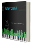 The cover art of the book A Composer's Guide to Game Music, written by award-winning game music composer Winifred Phillips.