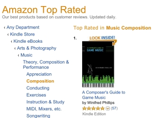 "The Kindle ""Top Rated"" list on Amazon.com."