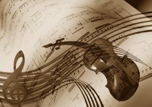 music-sepia