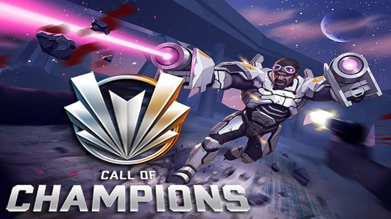 The Call of Champions logo and art, as it appears in the article by video game music composer Winifred Phillips.