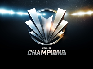 The Call of Champions game logo, as included in the article written by award-winning video game composer Winifred Phillips
