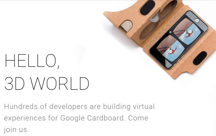 Google Cardboard: Hundreds of Developers