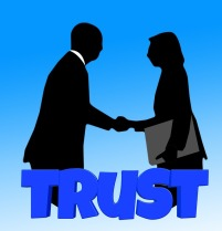 From the article by video game composer Winifred Phillips - an illustration of the importance of trust (symbolized in a direct handshake).