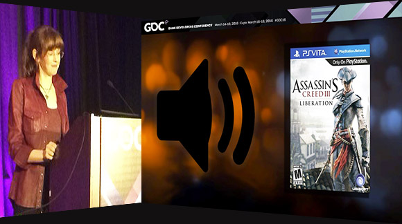 Game composer Winifred Phillips speaking about the music of Assassin's Creed Liberation at GDC 2016