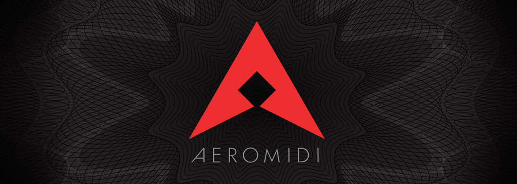 "Shown: The AeroMIDI logo. Article by game composer Winifred Phillips entitled ""VR Game Composer: Music Beyond the Virtual."""