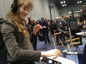 Pictured: video game composer Winifred Phillips at the AES NYC convention.