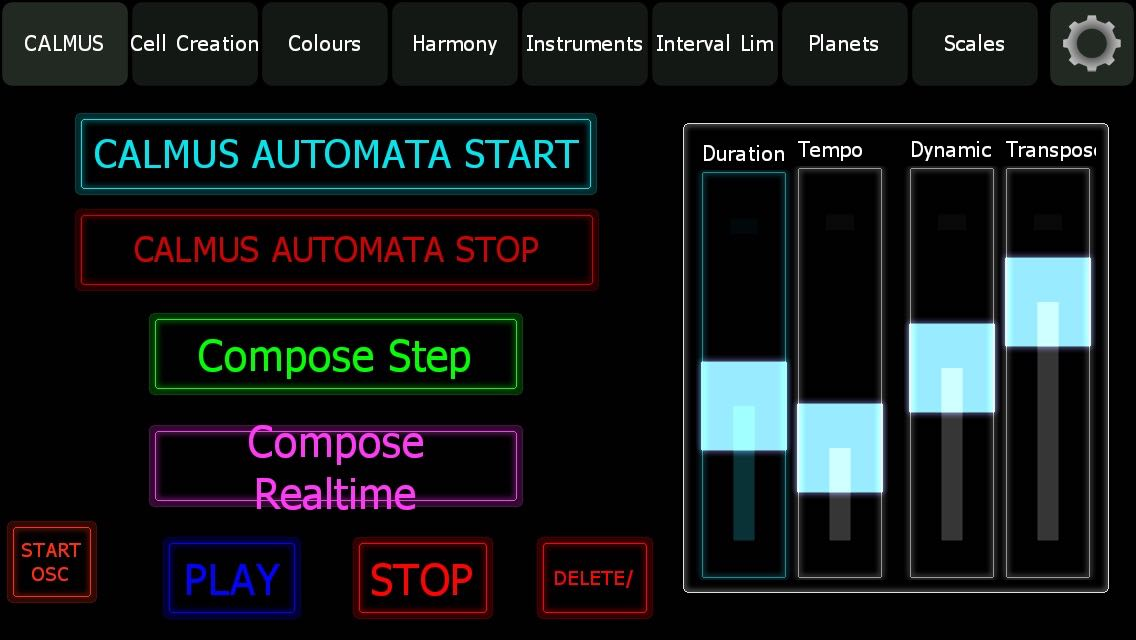 """A game composer must first use the CALMUS application to define the best set of parameters..."" (from the blog article by game composer Winifred Phillips)"