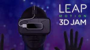Logo for the LEAP Motion 3D JAM event, from the article by award-winning video game composer Winifred Phillips