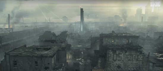 Image of the Red Zone from Homefront: The Revolution (pictured in the article written by game composer Winifred Phillips)