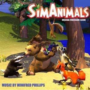 The album cover of the official SimAnimals video game soundtrack by game music composer WInifred Phillips.