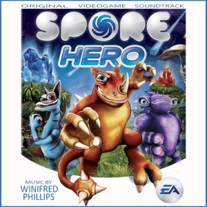 Cover of the Spore Hero soundtrack album, composed by Winifred Phillips (video game composer).