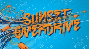 Logo image for the Sunset Overdrive video game (from the article on interactive music design for video games, by game composer WInifred Phillips)