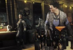 In a scene from Homefront: The Revolution, a group of resistance fighters are surprised by an enemy raid (picture from the article about game music suspense, by video game composer Winifred Phillips)