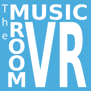 Logo for The Music Room virtual reality app, from the article by Winifred Phillips - award-winning video game composer.
