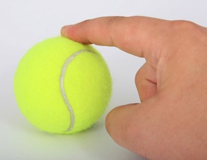 Illustration of touch feedback from a ball-shaped object, from the article by video game music composer Winifred Phillips