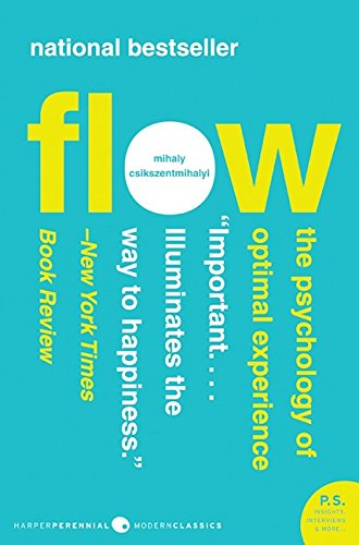 "From game composer Winifred Phillips' article on suspense in game design - photo of the book cover for the national bestseller ""Flow: The Psychology of Optimal Experience."""