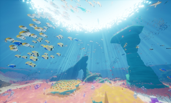 From the article by game composer Winifred Phillips - an illustration of the game ABZU.