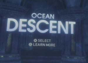 An illustration of the Ocean Descent portion of famous PlayStation VR Worlds game, from the article by Winifred Phillips, video game composer.