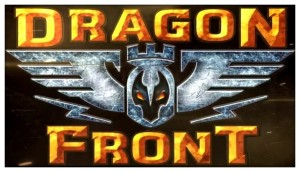 The logo for the Dragon Front virtual reality game, as included in a discussion of the role music plays in cognitive function for gamers (from the article by popular video game composer Winifred Phillips) -- this accompanies excerpts from Phillips' recent Reddit Ask-Me-Anything that received 14.8 thousand upvotes, garnering Reddit's gold and platinum awards and reaching the Reddit front page.