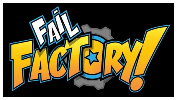 The logo of the Fail Factory VR game, developed by Armature Studios.  Fail Factory is discussed in the article about the timed challenge, written by Winifred Phillips (music composer for games).