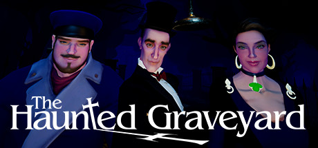 Logo for The Haunted Graveyard VR game developed by Holospark for VR Arcades (from the article about Virtual Presence by video game composer Winifred Phillips).
