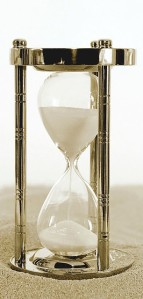 Photo depicting the popular hourglass metaphor for the passage of time, from the article by Winifred Phillips for video game composers.