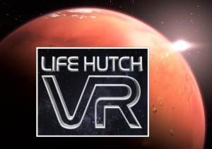 An image depicting the Life Hutch VR logo, from the article by composer Winifred Phillips discussing the importance of Virtual Presence in VR game design.