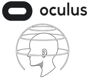 Depiction of popular and famous Oculus Rift device's audio SDK for Virtual Reality, from the article written by Winifred Phillips for video game composers.