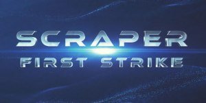 The logo of the VR game Scraper: First Strike (from the article about Virtual Presence by Winifred Phillips, video game composer).