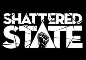 From the article discussing Virtual Presence (by video game composer Winifred Phillips), this image depicts the logo of the virtual reality game Shattered State.