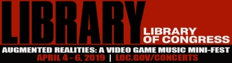 The Library of Congress logo, included in the article for video game composers by Winifred Phillips (game music composer).