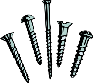 An image depicting screws. From a discussion regarding the consequences of allowing one's work to be given away without compensation. Article written by popular game music composer Winifred Phillips.
