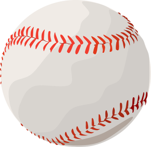 An illustration of a baseball accompanying a discussion of music research for a baseball gameplay sequence, from the article written by video game music composer Winifred Phillips.