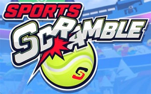 The logo of the Sports Scramble VR game - from a section of the article by Winifred Phillips (video game music composer).