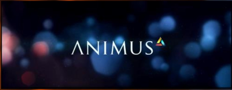 "An image of the text logo for the ""Animus"" concept from the Assassin's Creed video game franchise, from the article by composer Winifred Phillips."