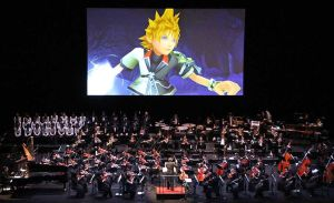 Photo of a performance from the World of Tres symphonic concert tour, as featured in the article by video game composer Winifred Phillips.