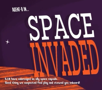 An illustration accompanying a discussion of the Space Invaded level from the Spyder video game -- article written by video game music composer Winifred Phillips.