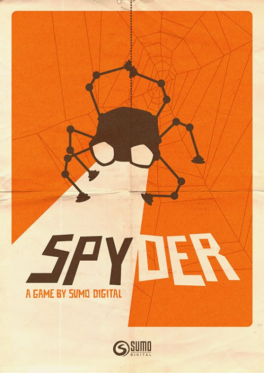 Promotional poster for the video game Spyder, from the article by video game music composer Winifred Phillips.