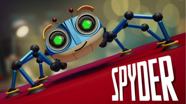 An image depicting the main character of the video game Spyder, used to illustrate an article by Winifred Phillips (award-winning video game composer).  Phillips is a frequent speaker at the famous Game Developers Conference (GDC).