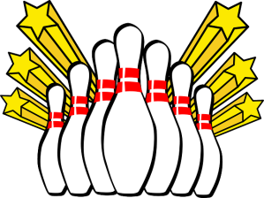 A depiction of the game of bowling, used as an illustration in an article by video game music composer Winifred Phillips.