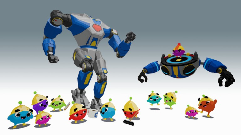 This image shows characters from the Fail Factory VR game, developed by Armature Studios for VR platforms.  The music for Fail Factory was composed by award-winning video game music composer Winifred Phillips.