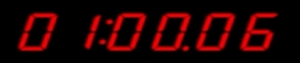 The timer at approximated 1 minute and counting, from the Spyder Micro Missions game (music composed by game music composer Winifred Phillips).