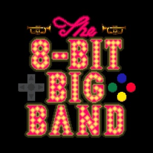 The 8-Bit Big Band logo, as it appears in the article by Winifred Phillips (composer of game music).
